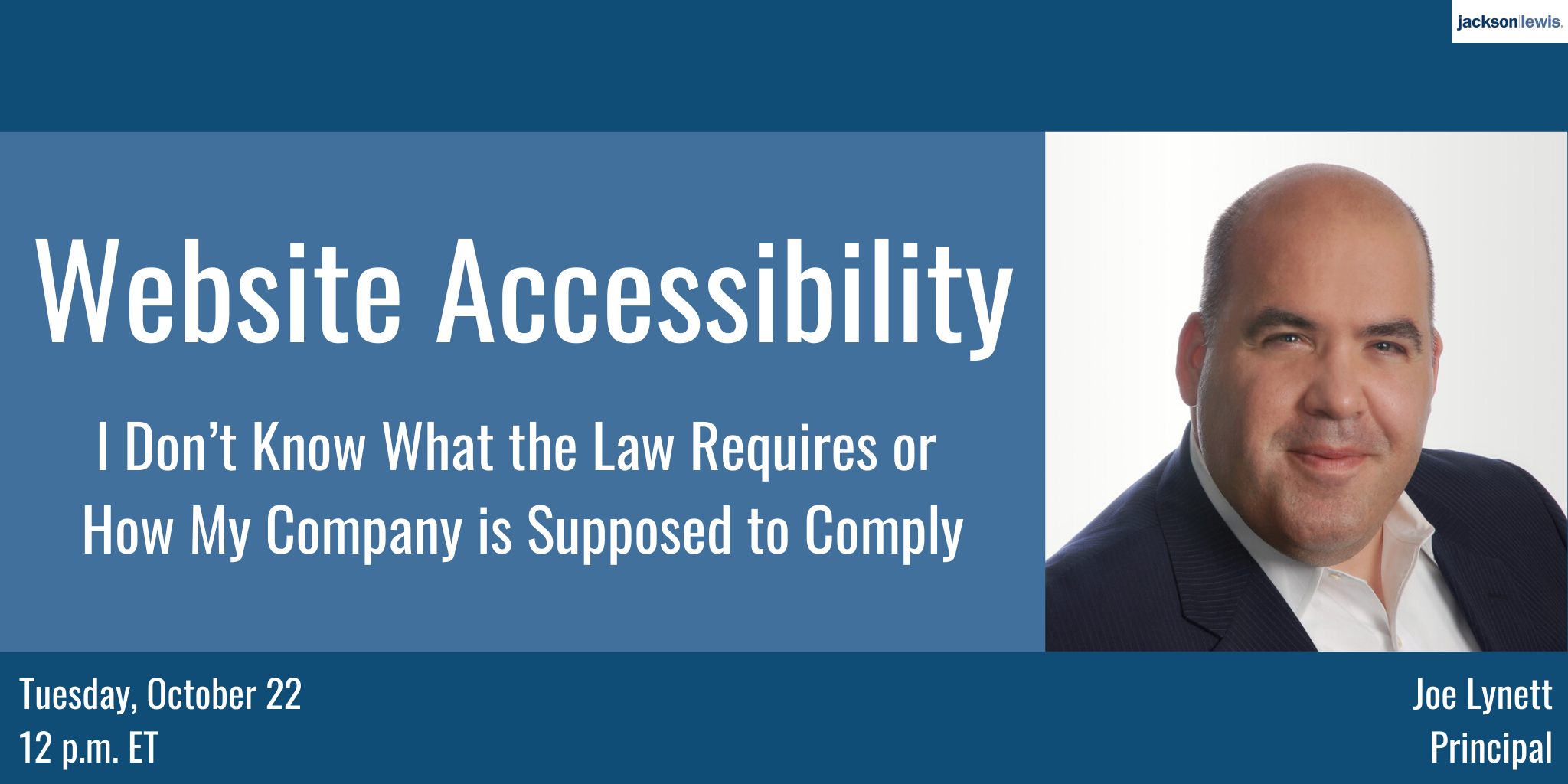Website Accessibility:  I Don't Know What the Law Requires or How My Company is Supposed to Comply image