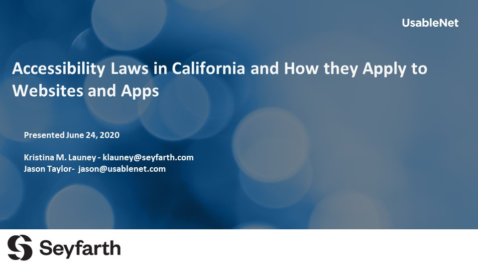 Accessibility Laws in California and How they Apply to Websites and Apps image