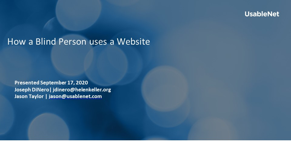 How a Blind Person uses a Website  image