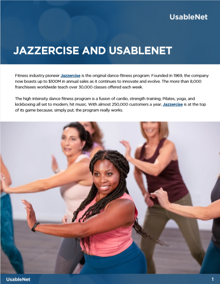 Jazzercise: Accessibility Enabled by Technology and Expertise image