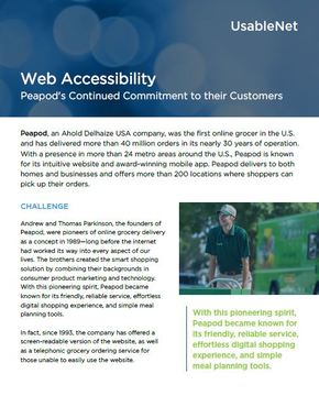 Peapod's Continued Commitment to their Customers image