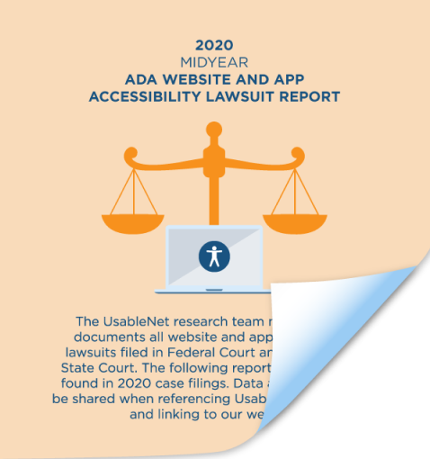 2020 Midyear ADA Website and App Accessibility Lawsuit Report  image