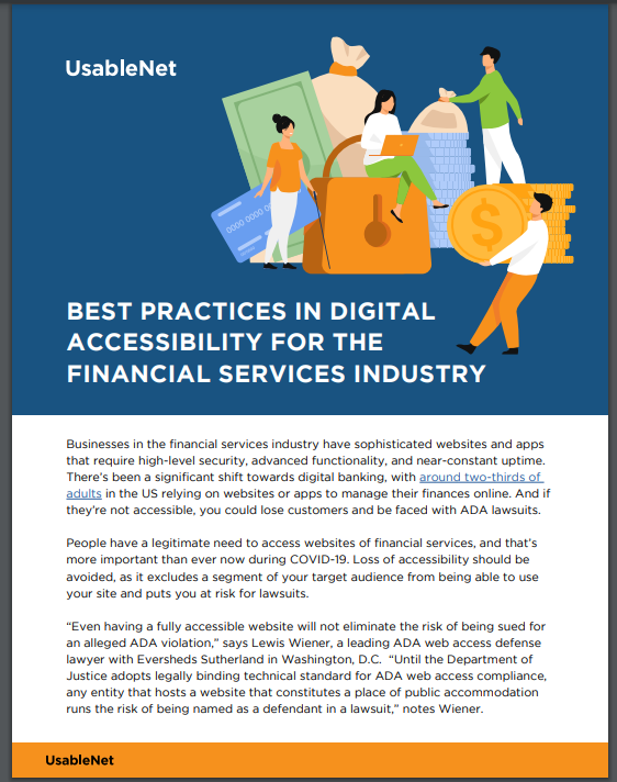 Best Practices in Digital Accessibility for the Financial Services Industry image